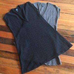 2 Eileen Fisher wool boucle tunics, get both!